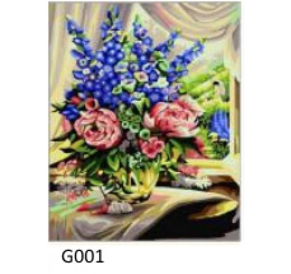 Картина (раскраска) по номерам № 001